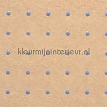 Dots grijs op zalm behang Arte Le Corbusier 31030