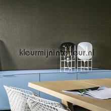 Dots blauw op donkerbruin behang Arte Le Corbusier 31033