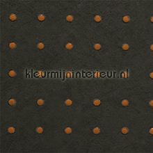Dots bruin op donker warm bruin behang Arte Le Corbusier 31035