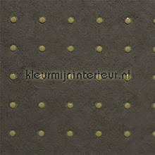 Dots beige op vergrijsd bruin behang Arte Le Corbusier 31036