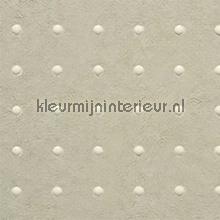 Dots lichtgrijs op grijsbeige behang Arte Le Corbusier 31038