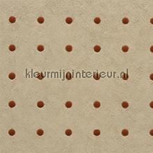 Dots roobruin op zalmbeige behang Arte Le Corbusier 31039