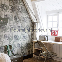 Camouflage letters behang BN Wallcoverings jongens
