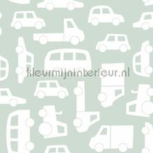 Autos mintgroen papel pintado Esta for Kids Wallpaper creations