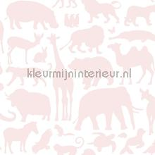 Dieren zacht roze papel pintado Esta for Kids Wallpaper creations