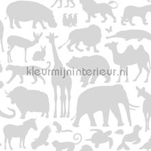 Dieren grijs papel pintado Esta for Kids Wallpaper creations