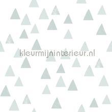 Grafische driehoeken vergrijsd blauw tapeten Esta for Kids Wallpaper creations