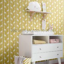 Giraffen okergeel papel pintado Esta for Kids Wallpaper creations