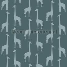 Giraffen vergrijsd blauw tapeten Esta for Kids weltraum