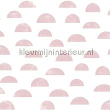 Grafisch heuvel motief roze papel pintado Esta for Kids Wallpaper creations