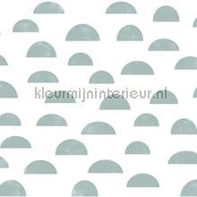 Grafisch heuvel motief vergrijsd blauw papel pintado Esta for Kids Wallpaper creations