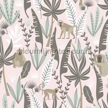 Apen zacht roze tapeten Esta for Kids Wallpaper creations
