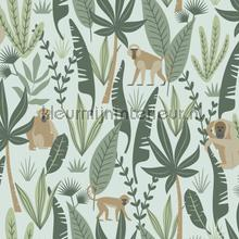 Apen donkergroen en mintgroen tapeten Esta for Kids Wallpaper creations