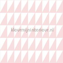 Grafische driehoeken zacht roze papel pintado Esta for Kids Wallpaper creations