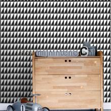 Grafische driehoeken zwart wit tapeten Esta for Kids Wallpaper creations