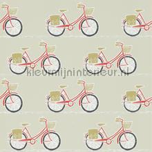 Cykel poppy behang Scion Levande 111101