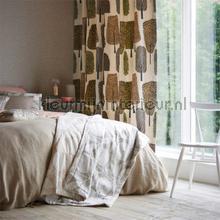 Cedar Taupe curtains Scion Levande 120357
