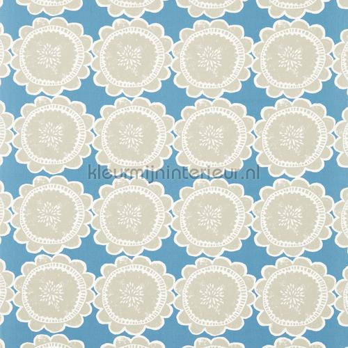 Lotta cobalt gordijnstof cortinas 120377 flores Scion