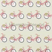 Cykel poppy gordijnstof stoffer Scion Sommerfugle Fugle