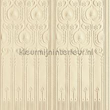 Edwardian dado panels wallcovering Arte Veloute Flock