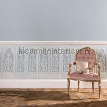 Gothic dado panels wallcovering Arte Veloute Flock