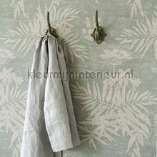 Pluizige bloemen en takken tapet Eijffinger Lino 379032