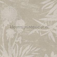 Pluizige bloemen en takken tapet Eijffinger Lino 379033