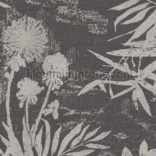 Pluizige bloemen en takken tapet Eijffinger Lino 379035