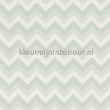 Krijtverf behang zigzag mint wallcovering Esta for Kids girls
