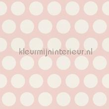 Krijtverf behang stippen wallcovering Esta for Kids girls
