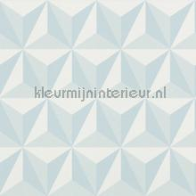 Grafisch 3d lichtblauw wallcovering Esta for Kids girls