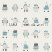 Getekende speelgoed robots tapet Esta for Kids Little Bandits 138938