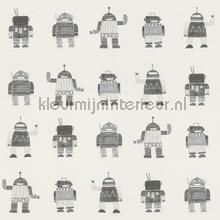 Getekende speelgoed robots tapet Esta for Kids Little Bandits 138939