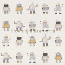 Getekende speelgoed robots tapet Esta for Kids Little Bandits 138940