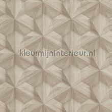 3d vouwwerk houtlook behang BN Wallcoverings Modern Abstract