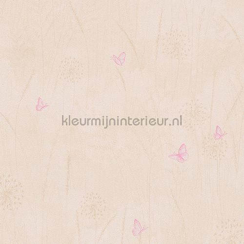 Vlinders in het gras pastel behang 303353 aanbieding behang AS Creation