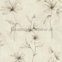 Lichte aquarel bloem behang Rasch Lucera 608410