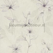 Lichte aquarel bloem behang Rasch Lucera 608427