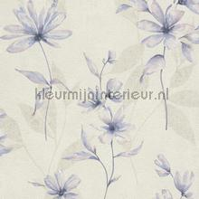 Lichte aquarel bloem behang Rasch Lucera 608434