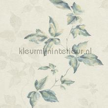 Lichte aquarel bladerrank behang Rasch Lucera 608830