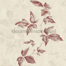 Lichte aquarel bladerrank behang Rasch Lucera 608854