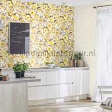 Flower ocean yellow behang Rasch Lucy in the Sky 803532