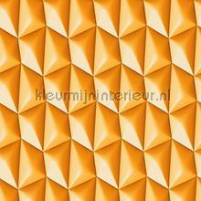 3d piramid grid orange tapeten AS Creation Mac Stopa 327083