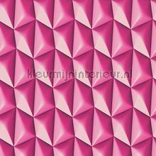 3d piramid grid pink behang AS Creation retro