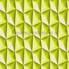 3d piramid grid green behang AS Creation retro