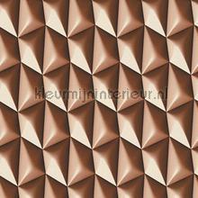 3d piramid grid brown behang AS Creation retro
