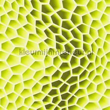 3d honeycomb yellowgreen behang AS Creation retro