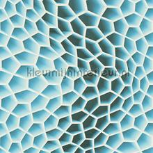 3d honeycomb blue behang AS Creation retro