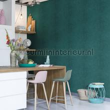 Krokodil in turkoois wallcovering Rasch wood