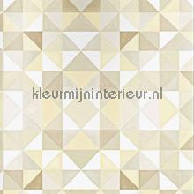 Bold cubism pale wallpaper papier peint Origin Mariska Meijers 339-346907